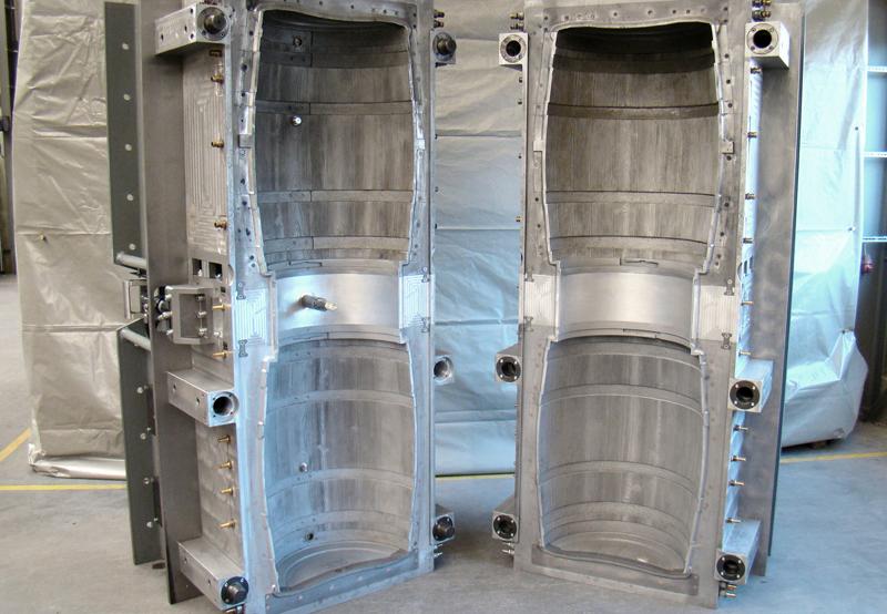 Aluminium-Blasform mit Doppelnutzen