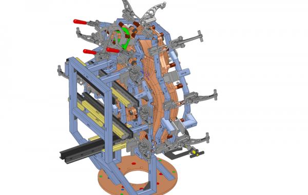 3D-Formkonstruktion Kraftstofftank, 870 x 830 x 1240mm