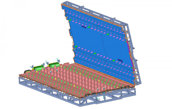 3D-Formkonstruktion Ponton-Laufsteg, 5000 x 2480 x 800mm