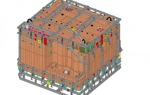 3D-Formkonstruktion Kombi-Form Tank A/P, 2270 x 2200 x 1760mm