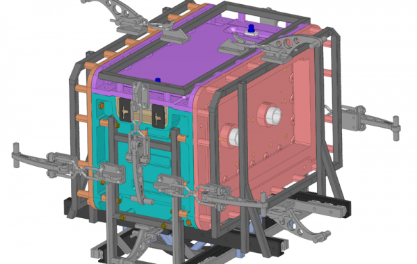 CAD-Konstruktion 6-teiliges Gehäuse, 970 x 860 x 700mm