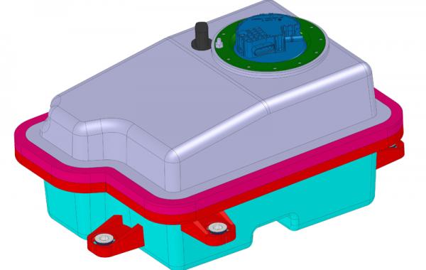 3D-Daten AdBlue Tank adaptiert für Rotationsfertigung