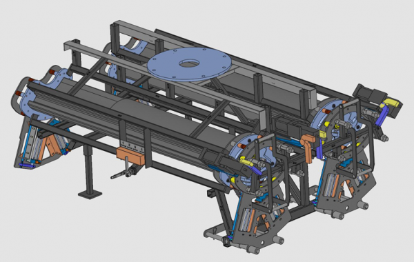 CAD-Konstruktion 3-teilige Automatik Hybrid Formen, 2100 x 1460 x 840mm