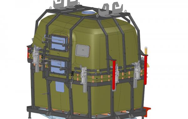CAD-Konstruktion 3-teiliger Glasbehälter 4m², mit Losteilen, 2390 x 2240 x 2480mm