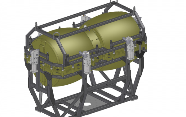CAD-Konstruktion 2-teilige Doppelform Wassertank, 2050 x 1200 x 1460mm
