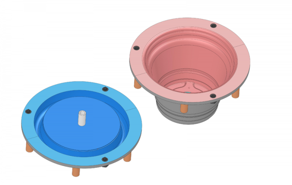 3D-Formkonstruktion Pflanzgefäß, Ø 500 x 400mm