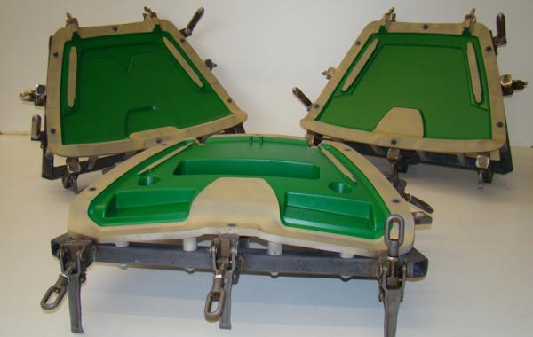 CNC-gefräste Kombi-Form, Flansche 007-, Oberfläche C40 beschichtet