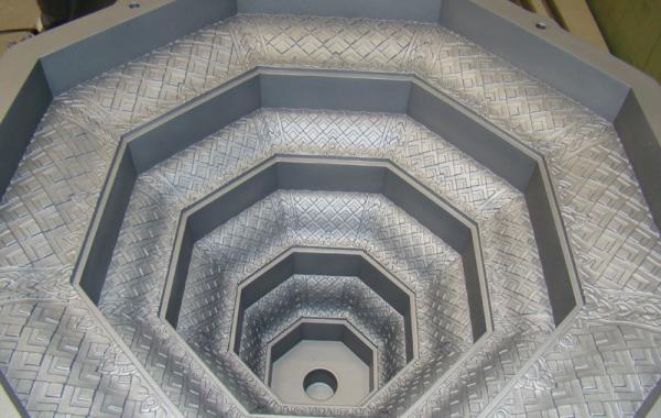 Alugussform mit Ornamentstruktur, C30 beschichtet