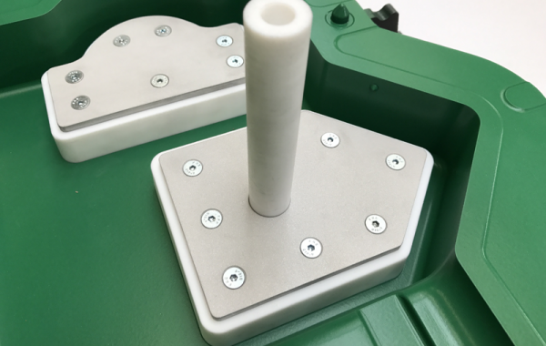 PTFE inserts for reducing postmoulding operations on products