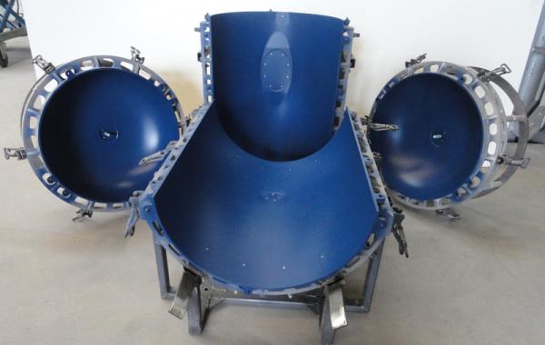 CNC-gefräste Tank Form, C32 pulverbeschichtet