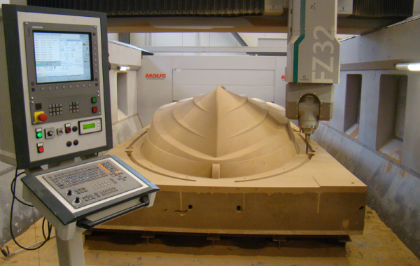 CNC-milling of a casting mould (FastCast Process)