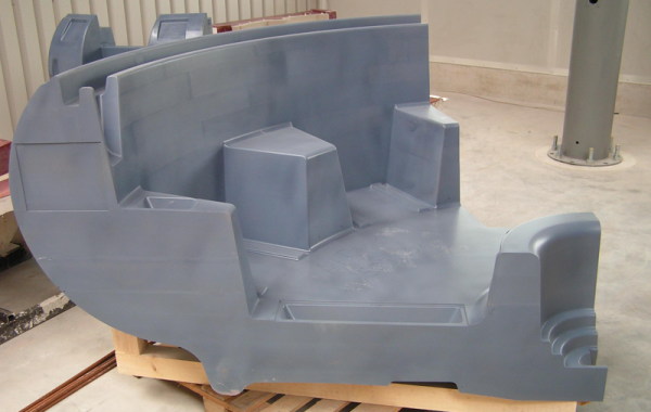 Pattern of polyurethane block material